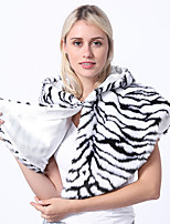 cheap -Adults' Cloak Kigurumi Pajamas Zebra Onesie Pajamas Flannelette White Cosplay For Men and Women Animal Sleepwear Cartoon Festival / Holiday Costumes
