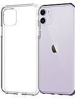 cheap -Case for iPhone 11Pro Max Transparent Soft TPU Phone Case XS Max XR Shockproof and Anti-drop 6 7 8Plus SE 2020 Cover