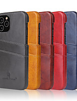 cheap -Case For iPhone 6 6s 7 8 6plus 6splus 7plus 8plus X XR XS XSMax SE(2020) iPhone 11 11Pro 11ProMax iPhone 12 Card Holder Shockproof  Back Cover Solid Colored PU Leather PC