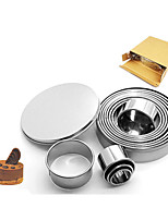 cheap -Stainless Steel Mousse Circle 12 Piece Set 304 Round Cake Mould Doughnut Sugar Turning Biscuit Mould Baking Tool