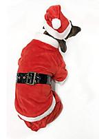 cheap -dog santa claus costume (large)
