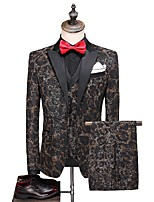 cheap -Tuxedos Tailored Fit / Standard Fit Peak Single Breasted One-button Cotton Blend / Cotton / Polyester Floral / Botanical