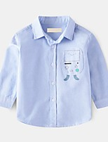 cheap -Kids Boys' Basic Solid Colored Long Sleeve Shirt White