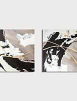 cheap -Hand-Painted Abstract Paintings Canvas Art  Painting Abstract Acrylic Painting Modern Art Textured Art  set of 2 with Stretcher Ready to Hang With Stretched Frame