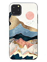 cheap -Case For Apple scene map iPhone 11 11 Pro 11 Pro Max cartoon flower stick figure pattern black frosted painted TPU soft case phone case JY