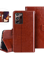 cheap -Case For Samsung Galaxy Galaxy S10 S10 Plus S10 E S10 5G S20 Plus S20 Ultra S20 Wallet Card Holder Full Body Cases Solid Colored PU Leather