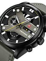 cheap -Men's Sport Watch Quartz Sporty Stylish Casual Water Resistant / Waterproof Genuine Leather Analog - Black / Yellow Black / White Black / Green