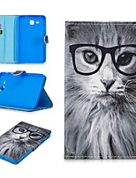 cheap -Case For Samsung Galaxy Samsung TAB A 7.0 T280 / T285 Card Holder / Shockproof / Pattern Full Body Cases Animal PU Leather / TPU