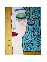 cheap -100% Hand painted Classic Artist Gustav Klimt Tear Abstract Oil Painting on Canvas Posters Wall Pictures For Living Room Cuadros. Rolled Without Frame