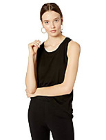 cheap -women& #39;s lauren scoop neck relaxed racer tank top, black, s