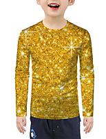 cheap -Kids Boys' Active Basic 3D Print Long Sleeve Blouse Gold