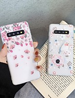 cheap -Case For Samsung Galaxy S8 S8Plus S9 S9Plus A10 A20 A30 A40 A50 A60 A70 A80 A90 Ultra-thin Transparent Pattern Back Cover Animal Flower TPU