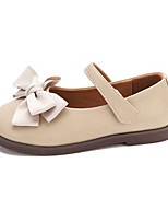 cheap -Girls' Flats Comfort PU Leatherette Loafers Little Kids(4-7ys) Walking Shoes Bowknot Almond / Black / Beige Spring / Fall