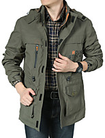 cheap -Men's Hiking Jacket Winter Outdoor Thermal Warm Windproof Breathable Soft Jacket Winter Jacket Top Camping / Hiking Outdoor Army Green / Blue / Khaki