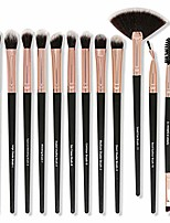 cheap -portable makeup brushes, 12pcs cosmetic face makeup brush set for blending blush concealer eye shadow, cruelty-free synthetic fiber bristles & #40;black& #41;