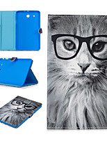 cheap -Case For Samsung Galaxy Samsung TAB E 9.6 T560 / T561 / T565 / T567V Card Holder / Shockproof / Pattern Full Body Cases Animal PU Leather / TPU