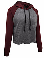 cheap -Women's Daily Pullover Hoodie Sweatshirt Solid Color Plain Front Pocket Basic Hoodies Sweatshirts  Loose Gray