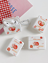 cheap -Case For AirPods 1 2 AirPods Pro Cute Pattern Lovely Headphone Case strawberry peach japanese words