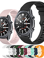 cheap -Sport Silicone Watch Band for Samsung Galaxy Watch 3 45mm 41mm / Galaxy Watch 46mm 42mm / Active 2 40mm 44mm / Gear S3 Classic Frontier / Gear Sport / S2 Classic / Replaceable Bracelet Wrist Strap