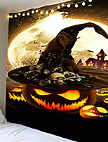 cheap -Halloween scary pumpkin hat skull tapestry wall tapestry cloth tapestry home bar Halloween DIY decoration for Halloween party