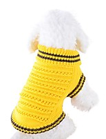 cheap -dog sweater for small dogs puppies (yellow)