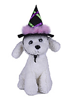 cheap -Dog Halloween Costumes Bandanas & Hats Patchwork Witch Party Cute Christmas Party Dog Clothes Breathable Purple Costume Polyster One-Size