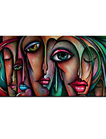 cheap -Oil Painting Hand Painted Vertical Abstract Abstract Portrait Comtemporary Modern Rolled Canvas (No Frame)