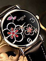 cheap -YAZOLE Women's Quartz Watches Quartz Stylish Tennis Chain Casual Water Resistant / Waterproof PU Leather Black / White / Red Analog - White / Black White+Red White