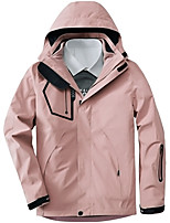 cheap -Women's Hiking Jacket Winter Outdoor Thermal Warm Windproof Breathable Soft Jacket 3-in-1 Jacket Winter Jacket Camping / Hiking Hunting Climbing Black / Pink / Green
