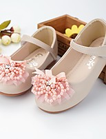 cheap -Girls' Flats Comfort / Flower Girl Shoes Patent Leather Floral Little Kids(4-7ys) / Big Kids(7years +) Bowknot / Pearl / Flower Dusty Rose / Ivory Spring / Fall / Party & Evening