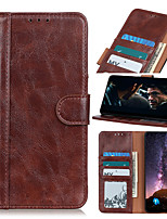 cheap -Case For Samsung Galaxy A01 A21 A41 A70E M11 M31 X Cover Pro A11 A31 A71 A21S A51 Note 20 Note 20 Ultra Flip Magnetic Full Body Cases Solid Colored PU Leather
