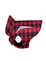 cheap -shasta jacket fleece lined dog coat, red buffalo plaid
