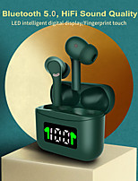cheap -LITBest J5 True Wireless Headphones Midnight Green Earbuds Bluetooth 5.0 Headset Led Power Display Sports Waterproof In-Ear Hifi Sound Quality White Black Type C Charging