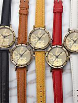 cheap -YAZOLE Women's Quartz Watches Quartz Casual Adorable Analog White Red Yellow / PU Leather