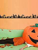 cheap -Halloween Tomb Wall Stickers Decorative Wall Stickers, PVC Home Decoration Wall Decal Wall Decoration / Removable