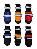 cheap -waterproof pet boots for medium to large dogs labrador husky shoes 4 pcs orange