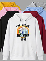 cheap -Women's Hoodie Cartoon Hoodie Cartoon Letter Printed Sport Athleisure Pullover Long Sleeve Warm Soft Oversized Comfortable Everyday Use Exercising General Use