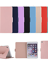 cheap -Case For Apple iPad  Mini 3 2 1 iPad Mini 4 iPad Mini 5 with Stand Flip Full Body Cases Solid Colored PU Leather TPU  Protective Stand Cover Textile