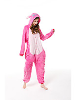 cheap -Adults' Kigurumi Pajamas Blue Monster Onesie Pajamas Flannelette Dusty Rose Cosplay For Men and Women Animal Sleepwear Cartoon Festival / Holiday Costumes