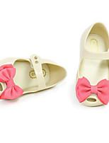 cheap -Girls' Flats Comfort PVC Flat Sandals Little Kids(4-7ys) / Big Kids(7years +) Walking Shoes Bowknot Almond / Black / Fuchsia Spring / Summer
