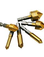 cheap -6pcs HSS Chamfer Countersink Chamfer Drill Bit 1/4 Hex Shank 90 Degree Wood Chamfering Cutter 6mm-19mm