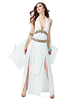 cheap -Greece Hercules Karpusi Dress Cosplay Costume Outfits Adults' Girls' Cosplay Halloween Halloween Festival / Holiday Rayon / Polyester White Easy Carnival Costumes / Cloak / Headwear / Wristlet