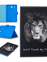 cheap -Case For Samsung Galaxy Tab E T560 Card Holder Shockproof Pattern Full Body Cases animal PU Leather TPU magnetic buckle lion
