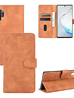 cheap -Case For Samsung Galaxy XCover Pro A51(5G) A71(5G) A21S Note 20 A7(2018) A31 Wallet  Shockproof  Magnetic Full Body Cases Solid Colored PU Leather TPU
