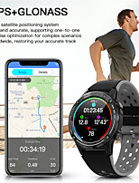 cheap -M6 GPS Smart Watch Men 1.3 inch 360mAh Bluetoot Call PPG Compass Barometer Geomagnetic induction Gyro Outdoor Smartwatch