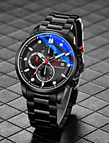 cheap -Men's Sport Watch Quartz Formal Style Stylish Casual Water Resistant / Waterproof Stainless Steel Black / White / Blue Analog - Red+Golden Black Blue