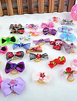 cheap -50 pcs handmade grooming accessories products bow hair flower bowknots for puppy pet dog cat