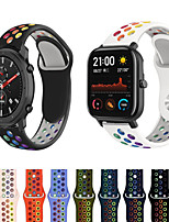 cheap -Rainbow Silicone Watch Band for Huami Amazfit Bip S / GTS / Bip Youth / GTR 47mm / GTR 42mm / Amazfit Stratos 3 / Stratos 2 2S / Pace 1 / Xiaomi Watch Color Replaceable Bracelet Wrist Strap Wristband
