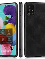 cheap -Case For Samsung Galaxy Galaxy A11 A41 A70E A21S A51 5G A31 A71 5G M31 A11 M11 A21 A41 A01 Shockproof Back Cover Solid Colored PU Leather