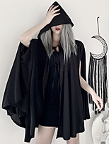 cheap -Goth Girl Gothic Steampunk Goth Subculture Cloak Women's Costume Black Vintage Cosplay Party Club Bar